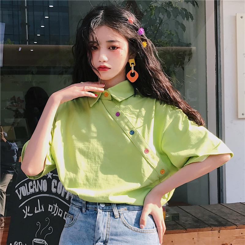 【tops】合わせやすいPOLOネック配色Tシャツ20604704