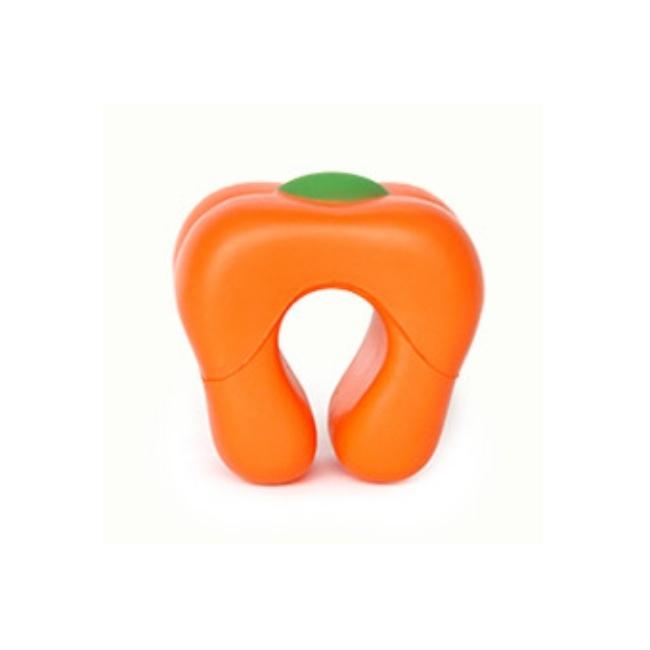 ドアクッション・パプリカ【Orange】 子供 ・ ペットの 安全 耐久性 が高く 長持ち するウレタン素材 快適 ・ 便利なドアストッパー