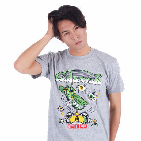 ギャラクシアン Arcade Comic`s Tシャツ (Gray) / GAMES GLORIOUS