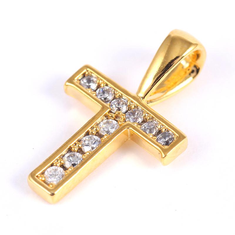 K18GP 【T】ダイヤモンドアルファベット パヴェ チャーム