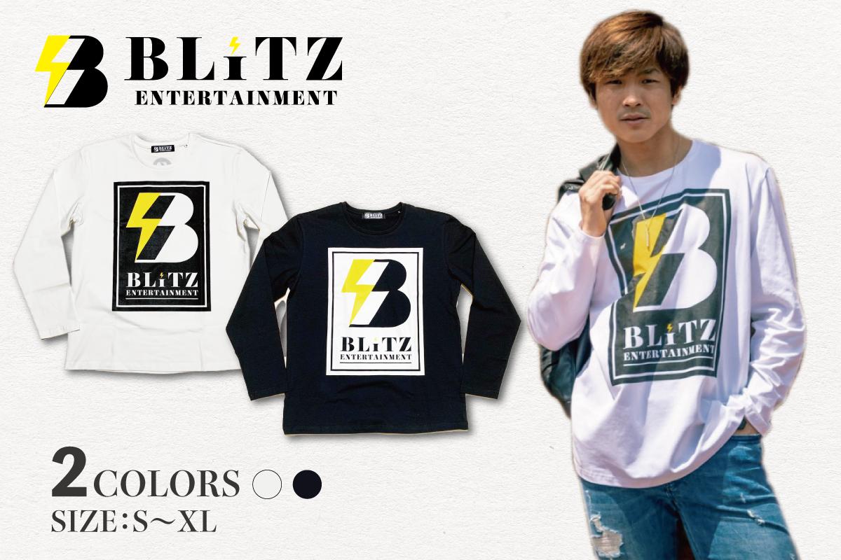 BLiTZ ロゴロンT(ホワイト、ブラック)