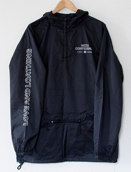 【WITH CONFIDENCE】Flower Windbreaker (Black)