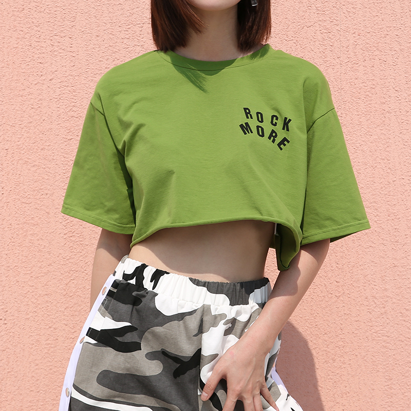 【tops】アルファベットプリントカジュアルTシャツ20604663
