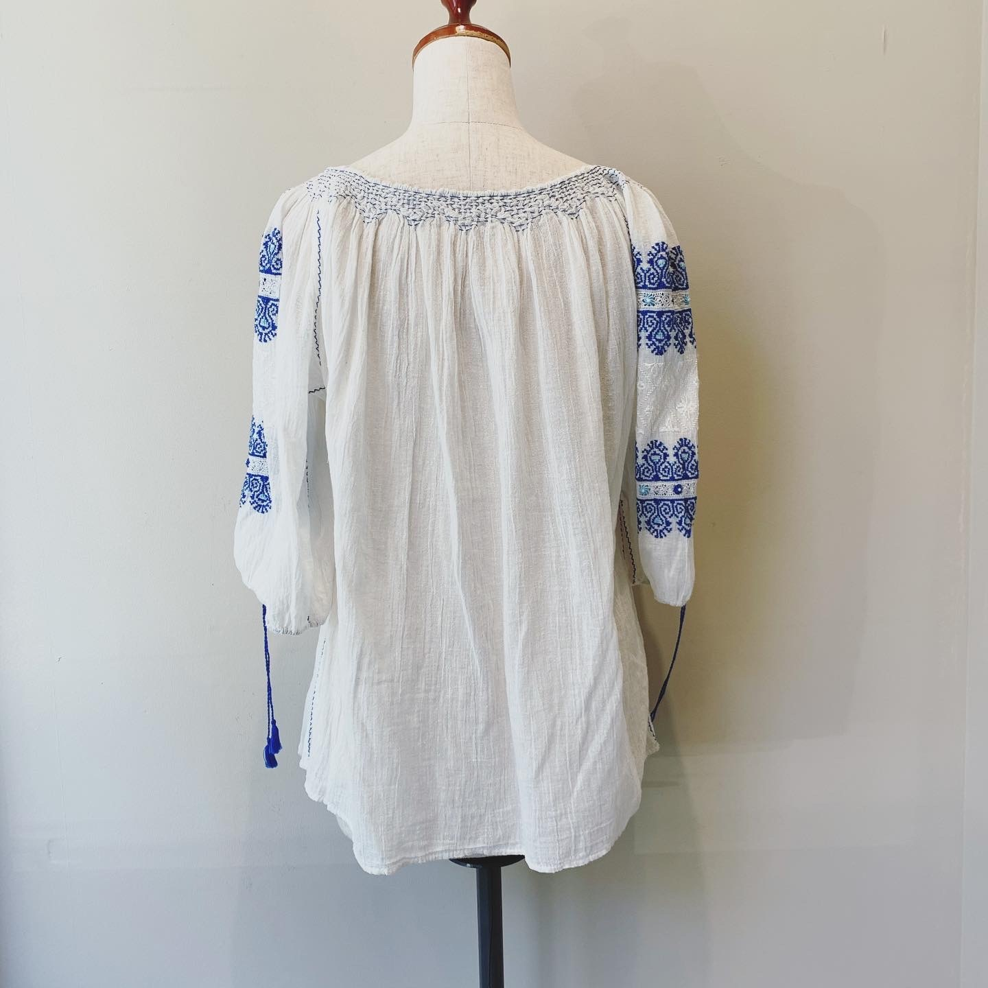 vintage embroidery gauze tops