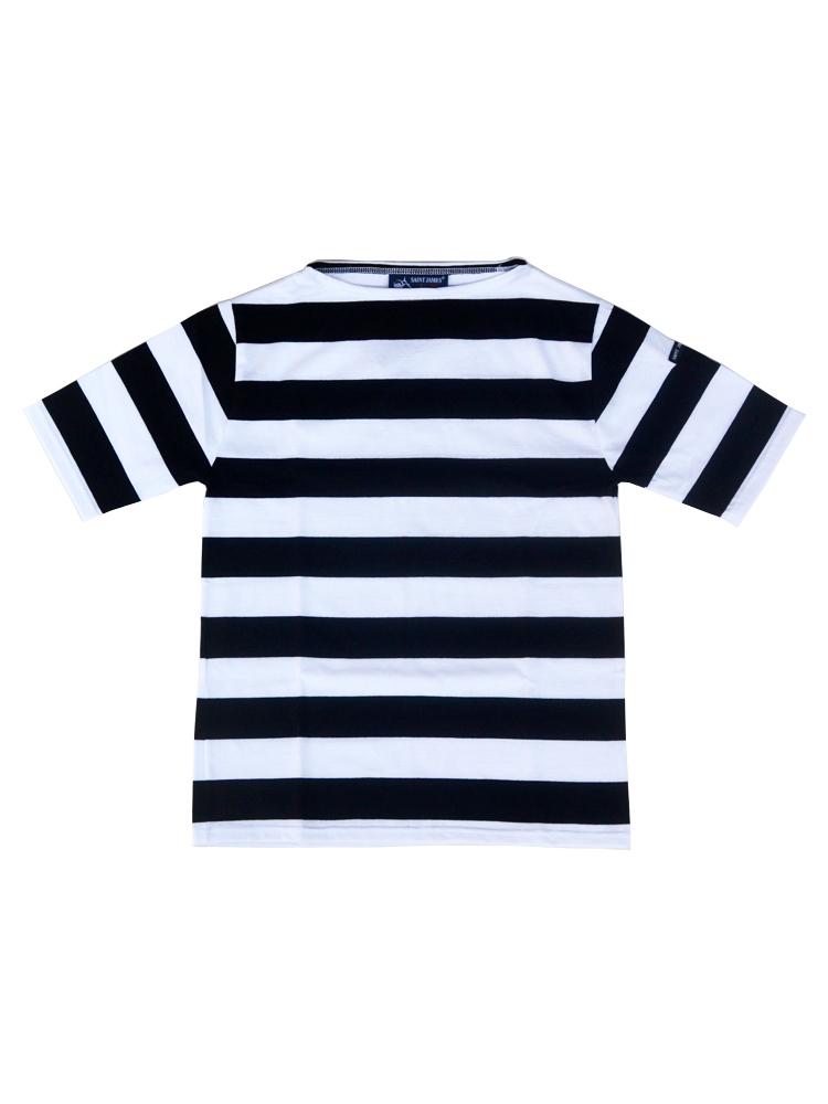 SAINT JAMES PIRIAC ワイドボーダー NEIGE/NOIR(白/黒)半袖Tシャツ【正規取扱品】UNISEX