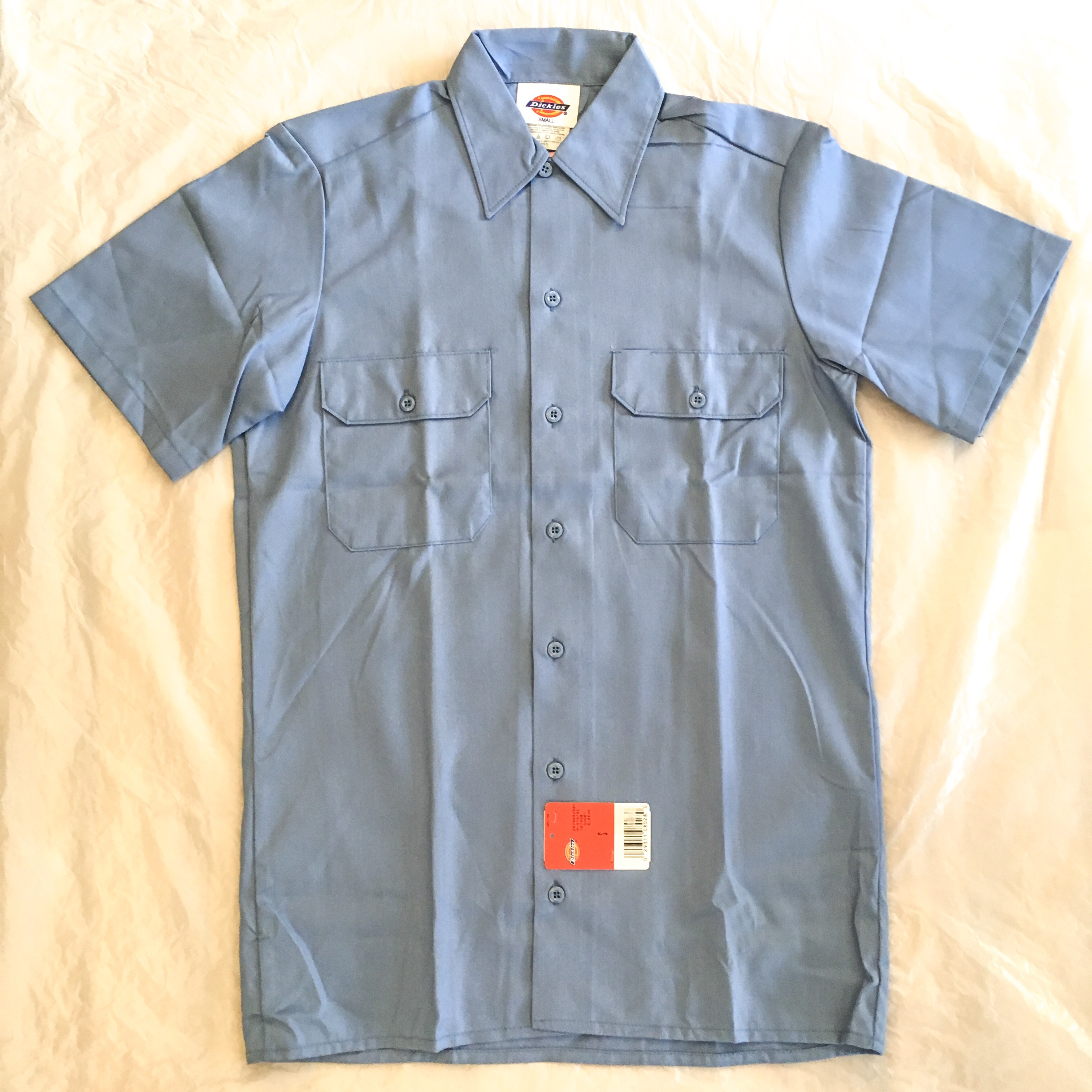 "Dickies SHORT SLEEVE WORK SHIRT-GB ""Made in USA""<Deadstock>"