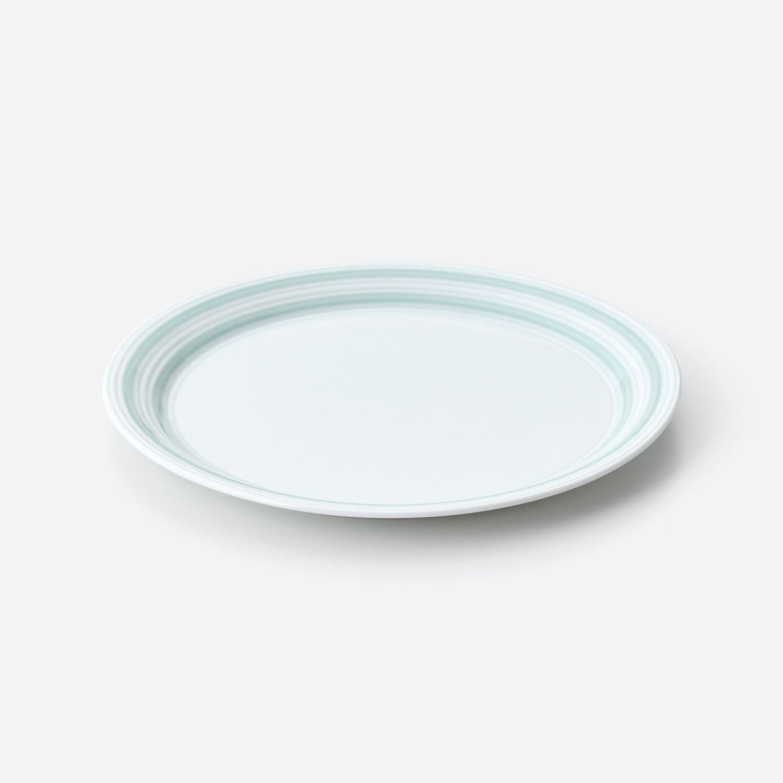 青磁千段 プレート皿 (約25センチ)