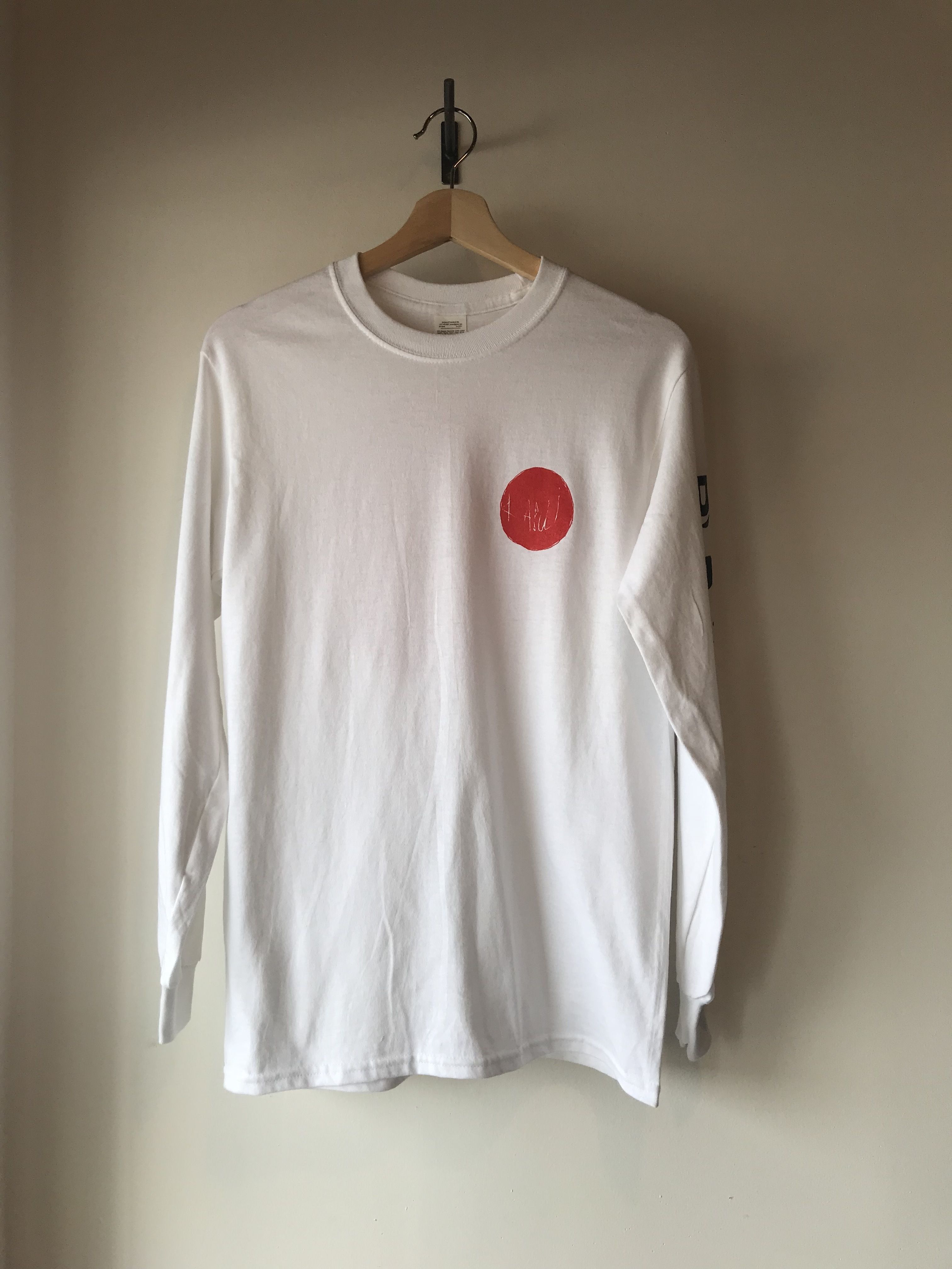kabui オリジナル 日の丸 ロンT ホワイト