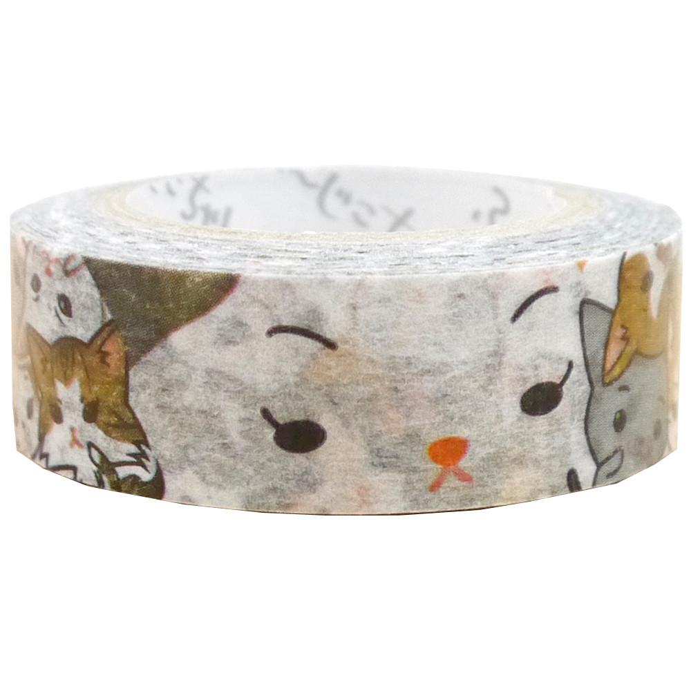 猫マスキングテープ(猫ぎゅうぎゅう)幅15mm