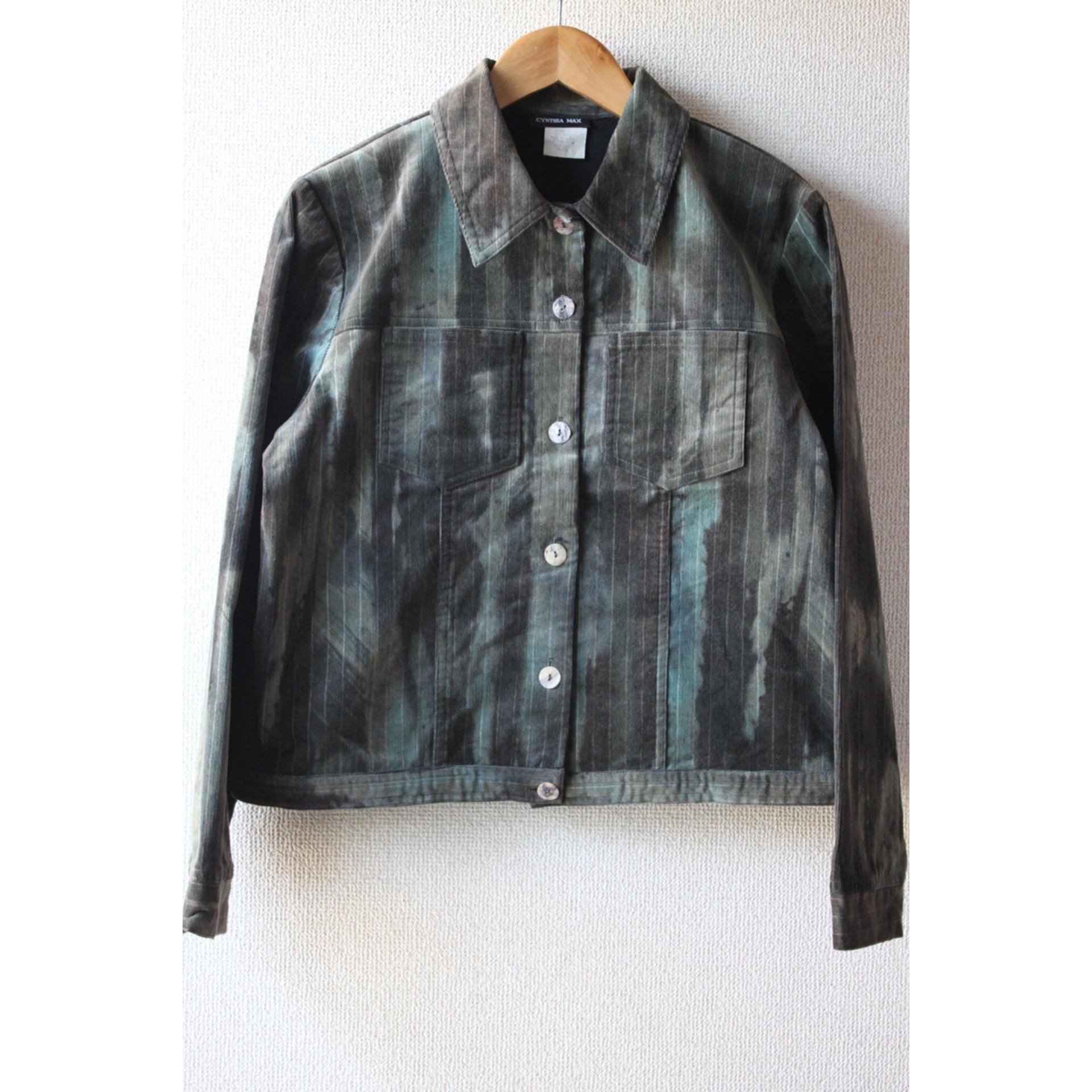 Vintage blurred print jacket