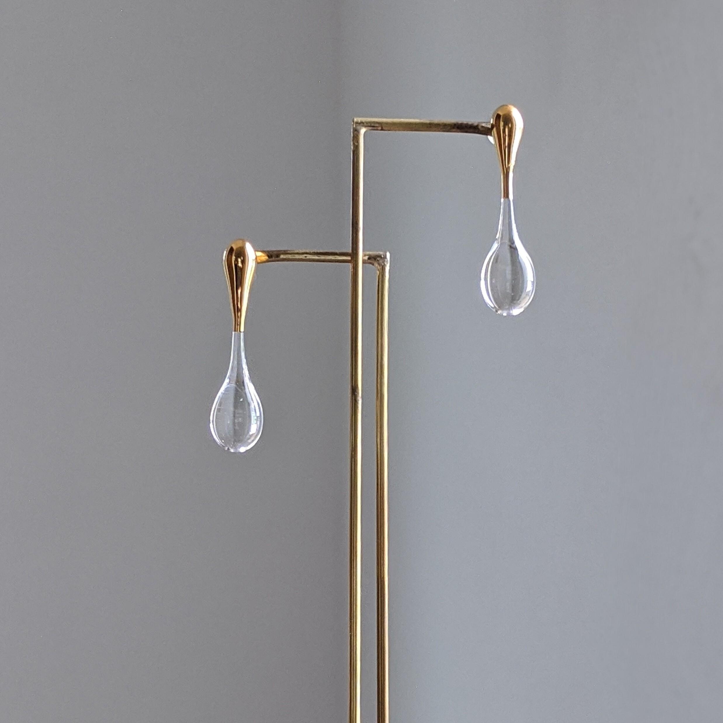 rain pierce/earring gold