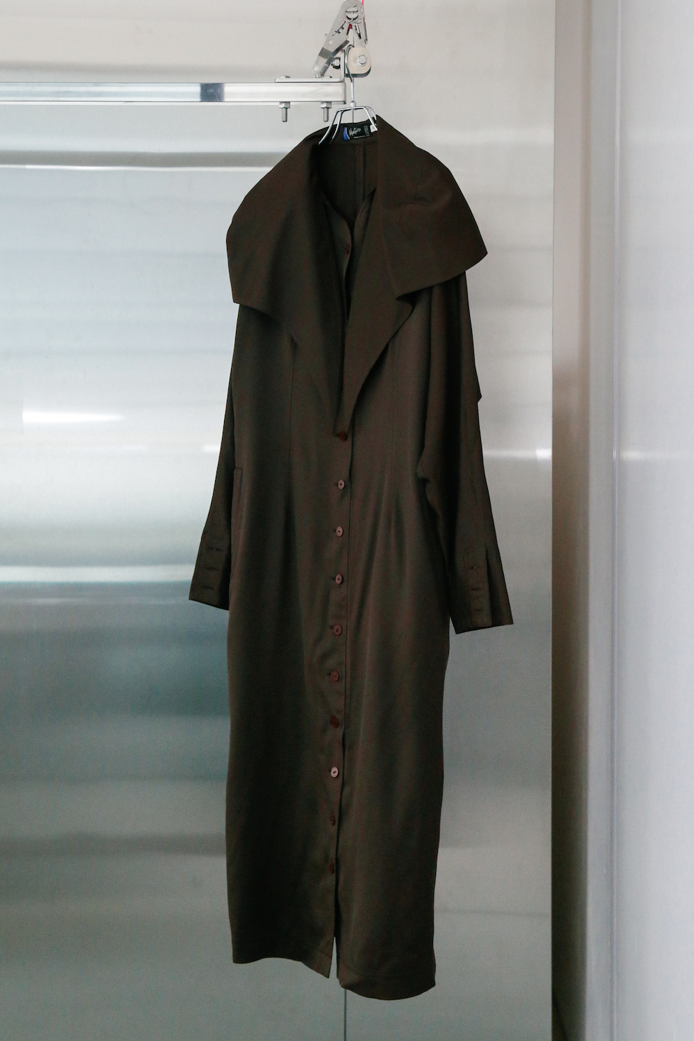 "80's ""Claude Montana"" Big Collar Brown Coat"