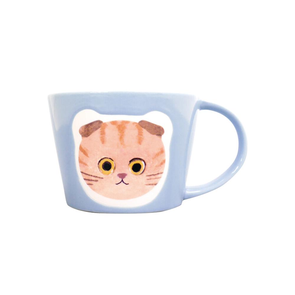 猫マグカップ(エクートミネットフェイスマグ)スコティッシュちゃとら