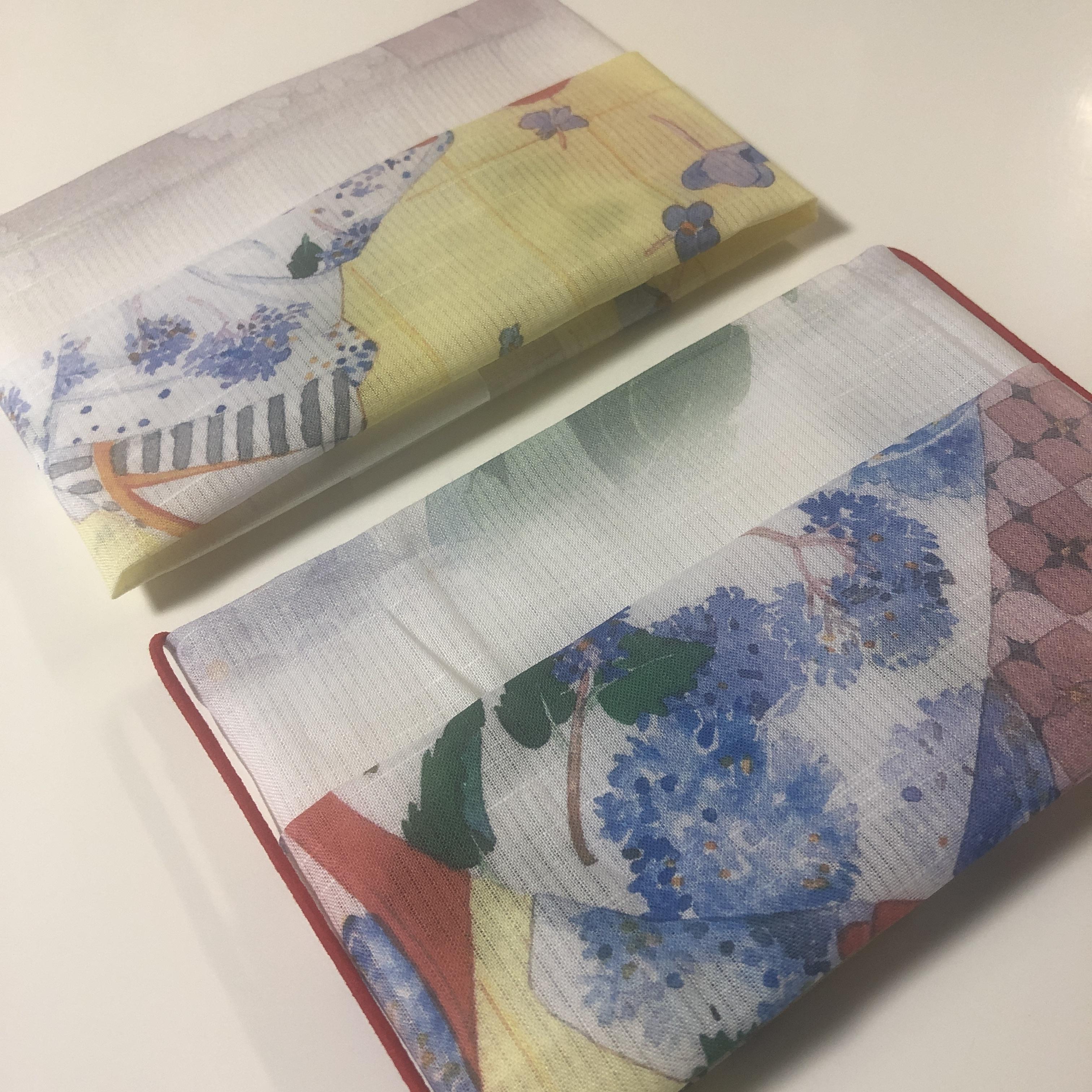 夏マスク手作り用に!綿*コットン100%/生地/てぬぐい/日本製/アヤメ