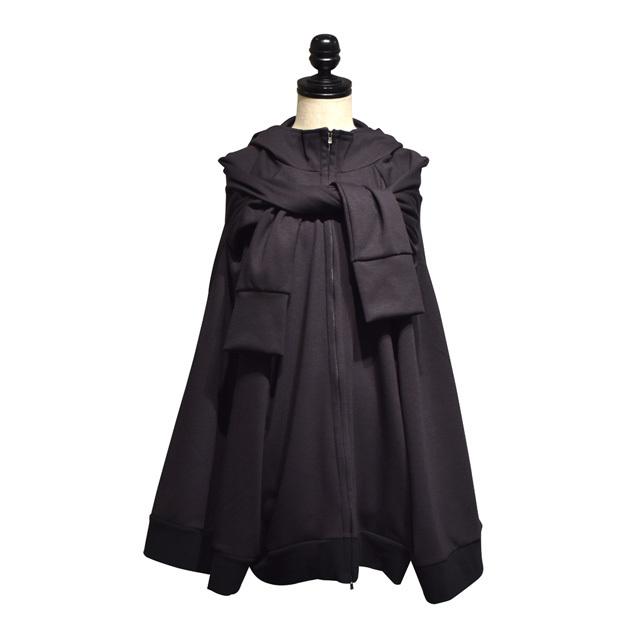 -niitu- / イカ頭巾パーカー / Black