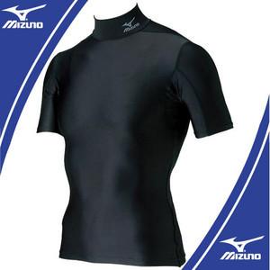 mizuno バイオギア ハイネック 半袖シャツ  ブラック