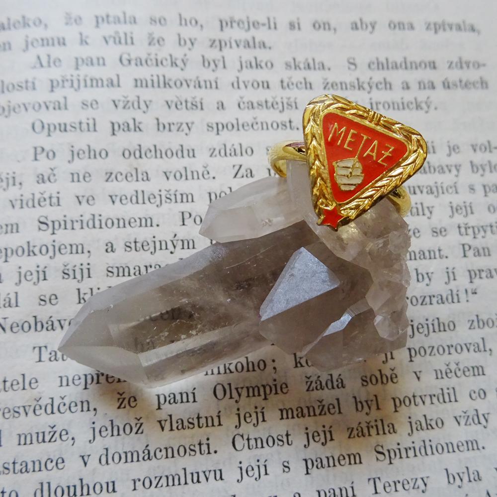 三角モチーフのチェコリング