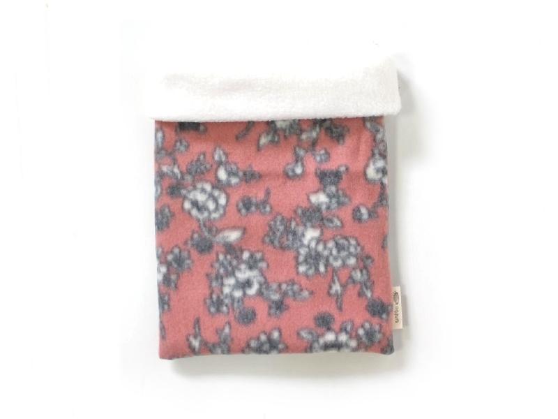 ハリネズミ用寝袋 M(冬用) フリース×フリース 芍薬 桃
