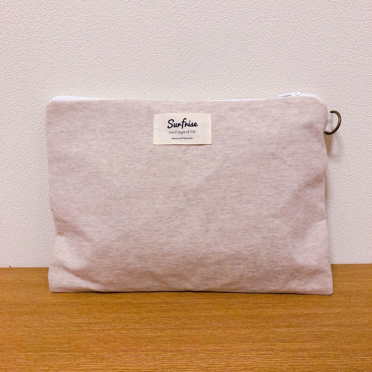 Sweat clutch bag - Beige