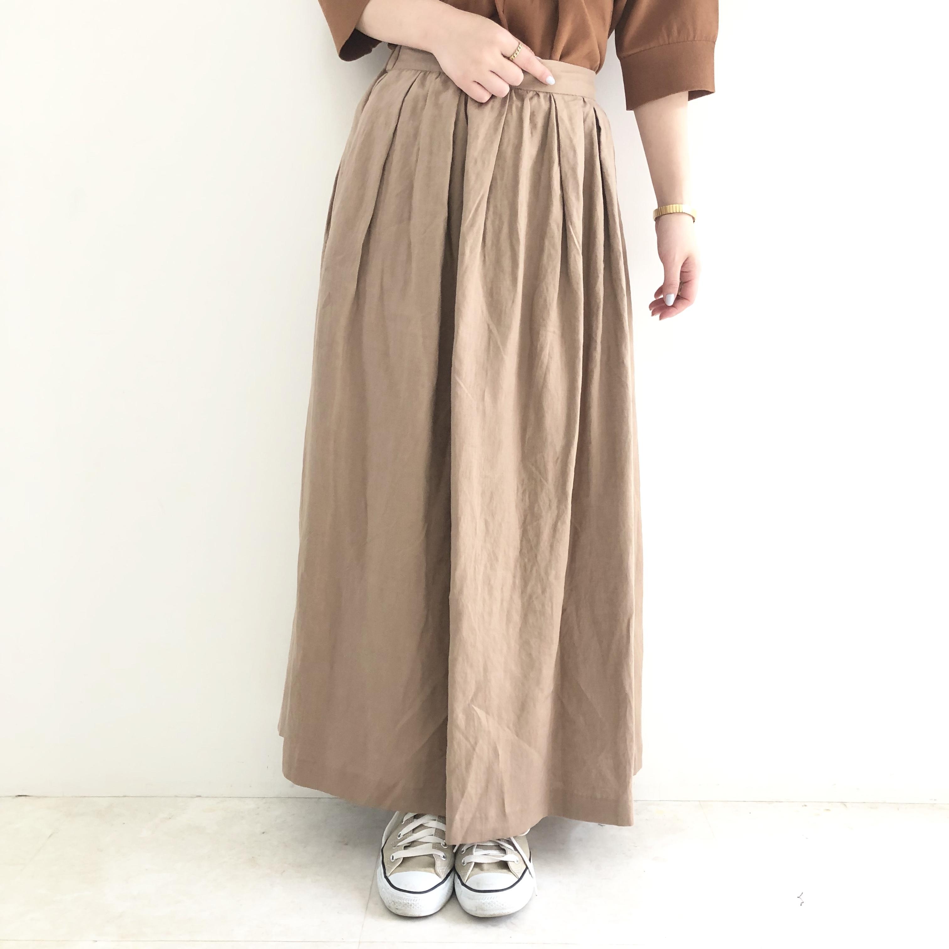 【 anana 】リネンロングスカート