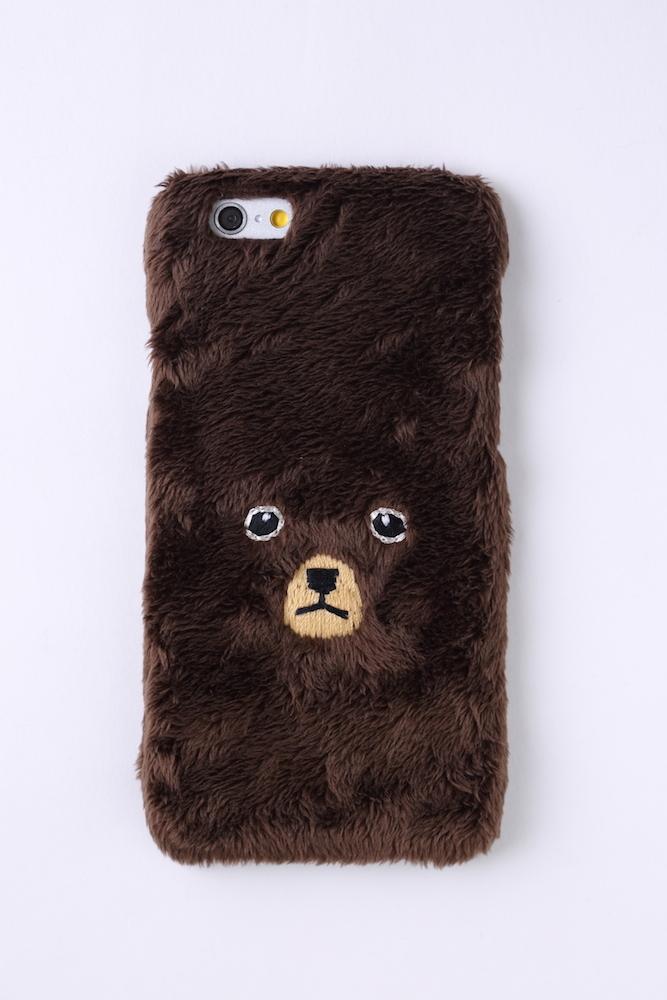 【ハードケース】くまiPhone6/6sハードケース【ブラウン】