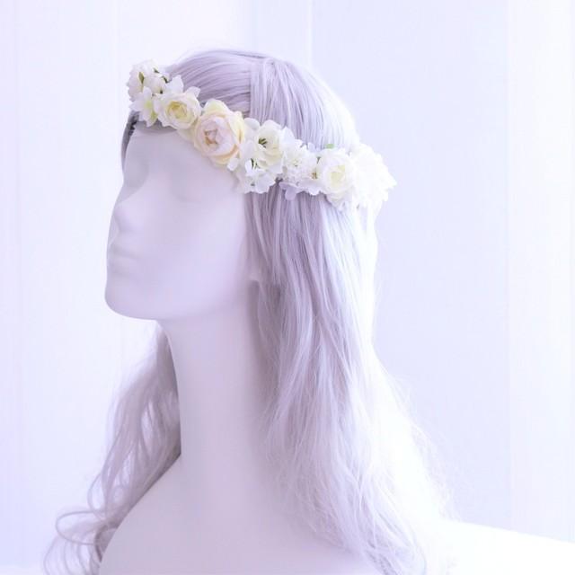 〖 アーティフィシャルフラワーの花冠 〗ウェディングブーケご購入の方専用