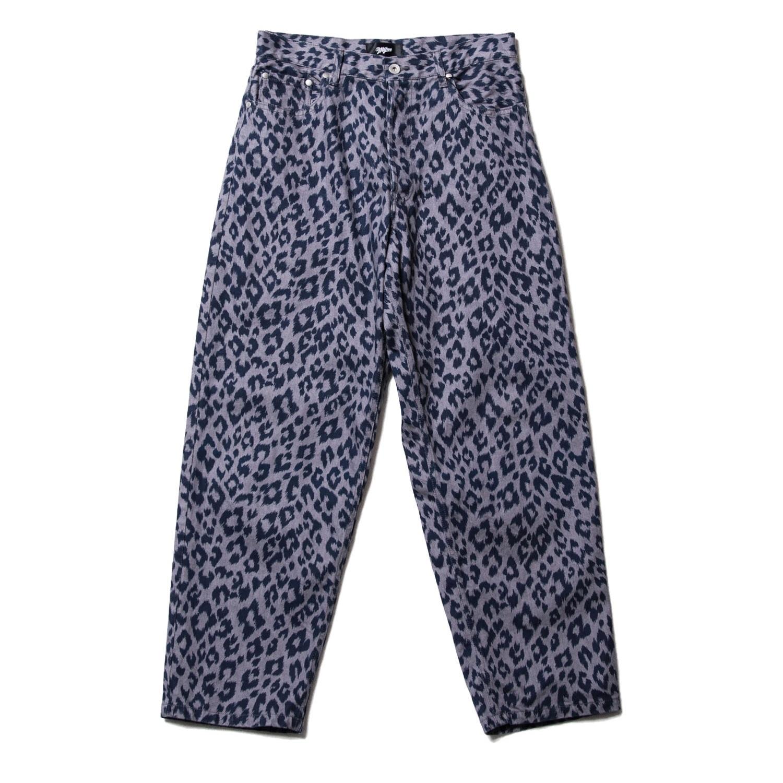 Leopard denim pants / GRAY  - 画像1
