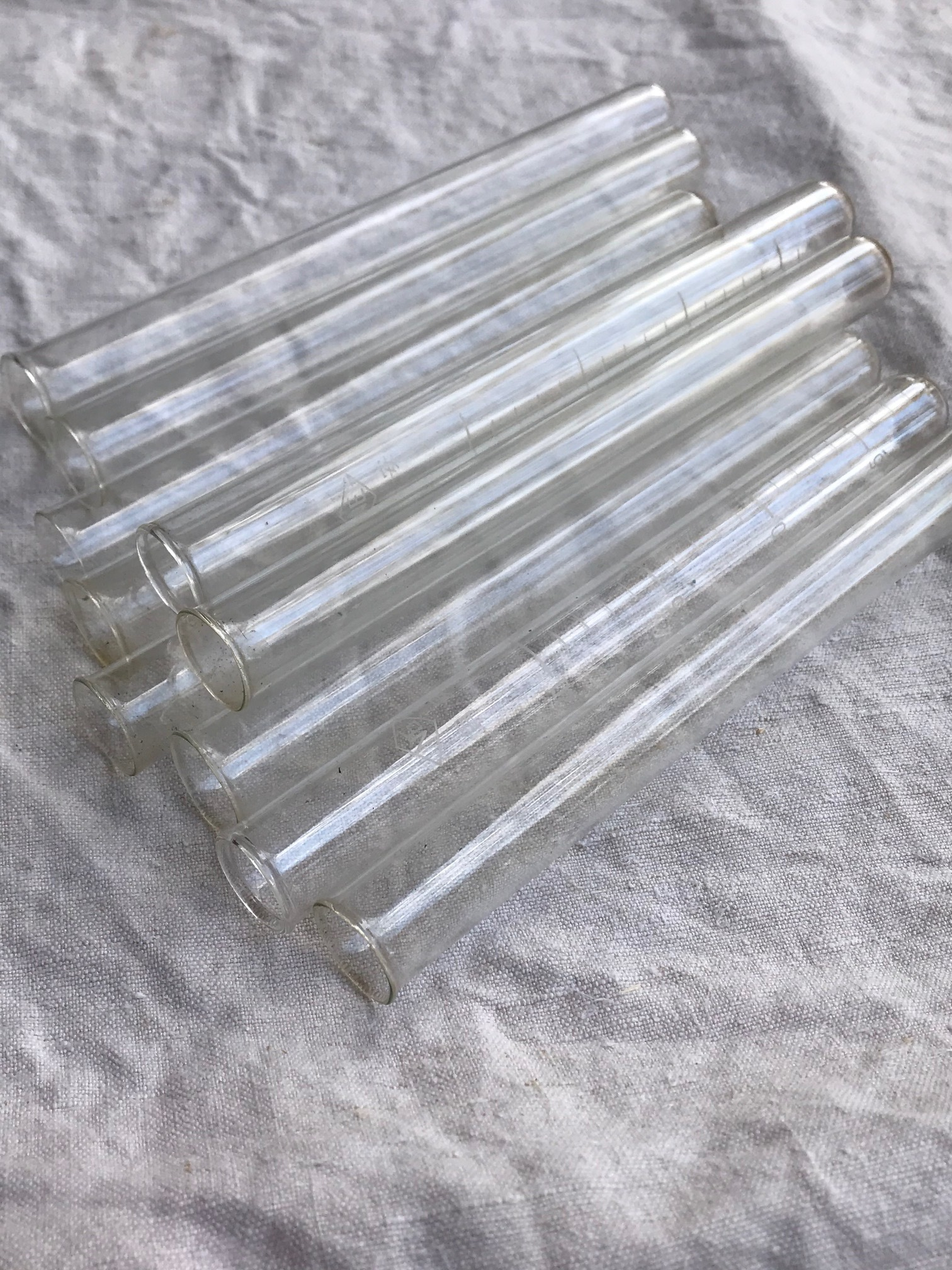 ジャンク ガラス試験管 理科器具 古道具 A