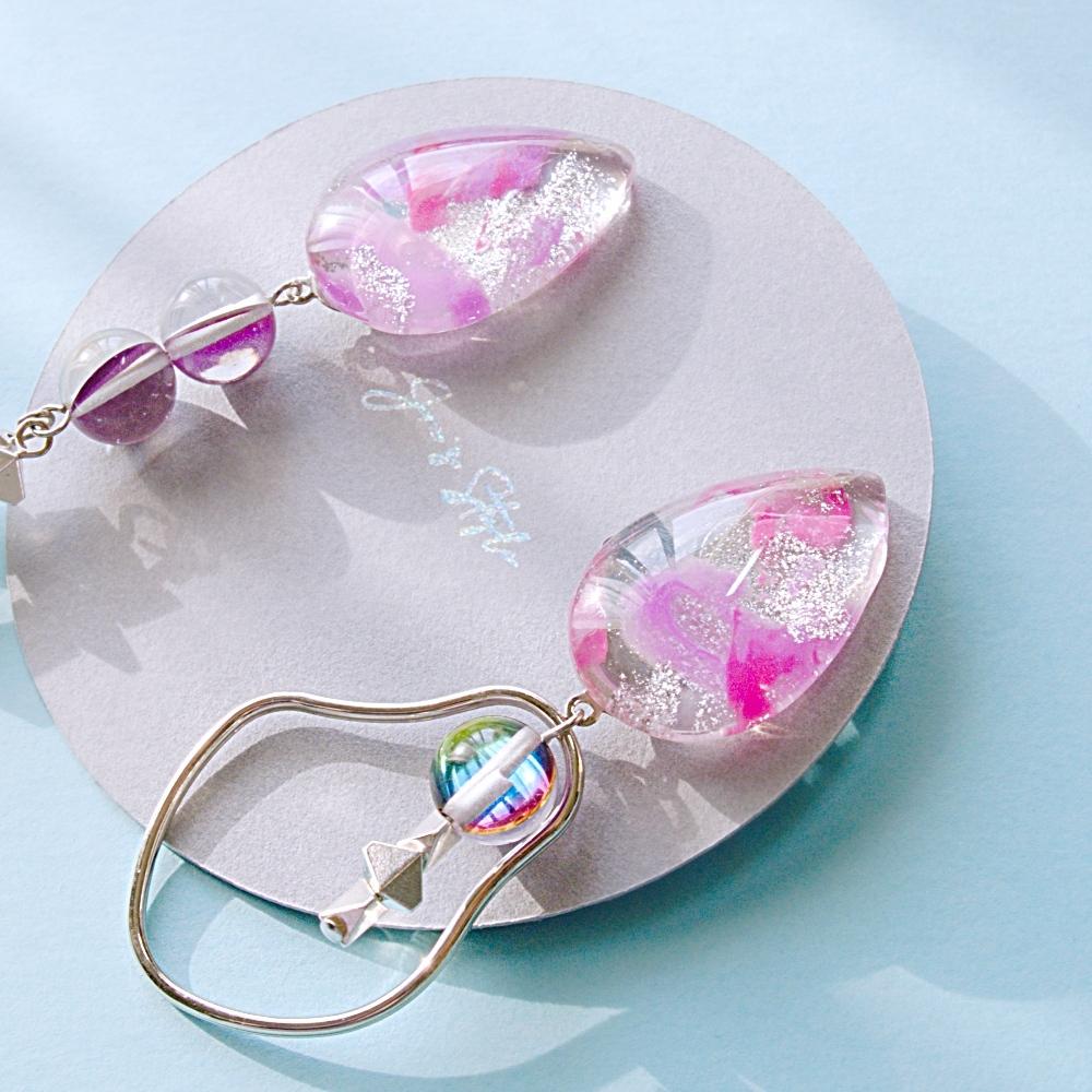 """ Earrings NO.0-1984″ ペイント&ルナフラッシュ"