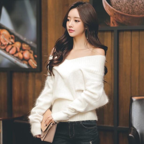 【トップス】ファッション無地切り替えセーター・カットソー24917430