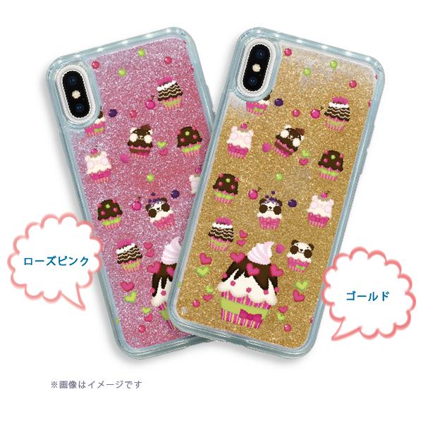 グリッターケース*iPhone X/XS/6/6s/7/8*ズレちゃんDEカップケーキ*1924GB
