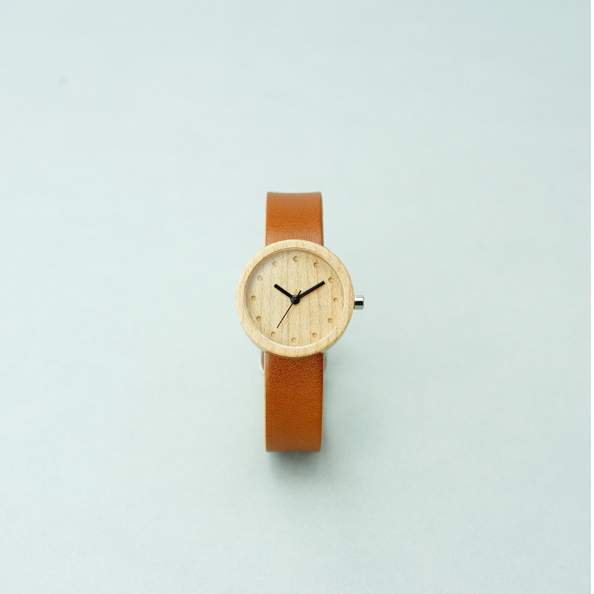 Maple wood - Organic leather Honey - S