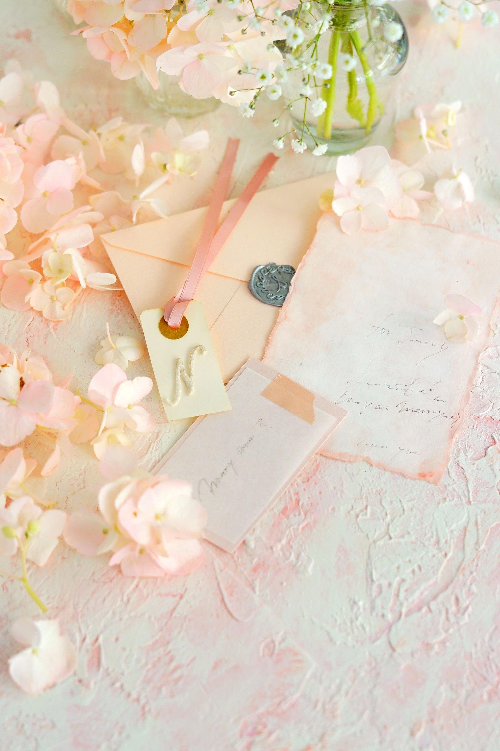 60サイズ:ストックピンク「花香」を感じる5種の淡い色のスタイリングボード