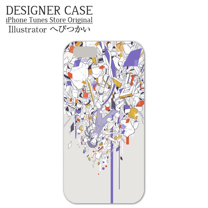 iPhone6 Soft case[jiyuu rakka]  Illustrator:hebitsukai