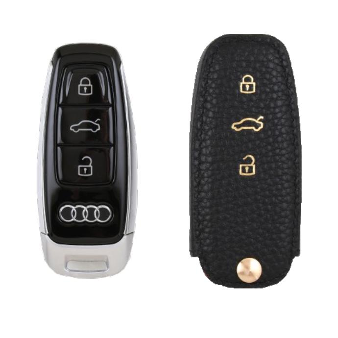 Audi 専用 TypeE Car Key Case Shrink Leather Case