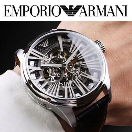 EMPORIO ARMANI 自動巻きメンズウォッチ AR4629 メカニコ