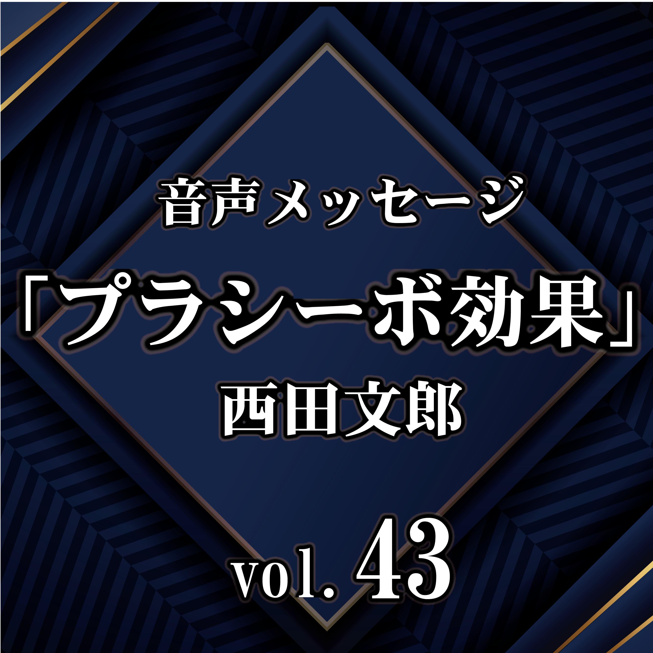 西田文郎 音声メッセージvol.43『プラシーボ効果』