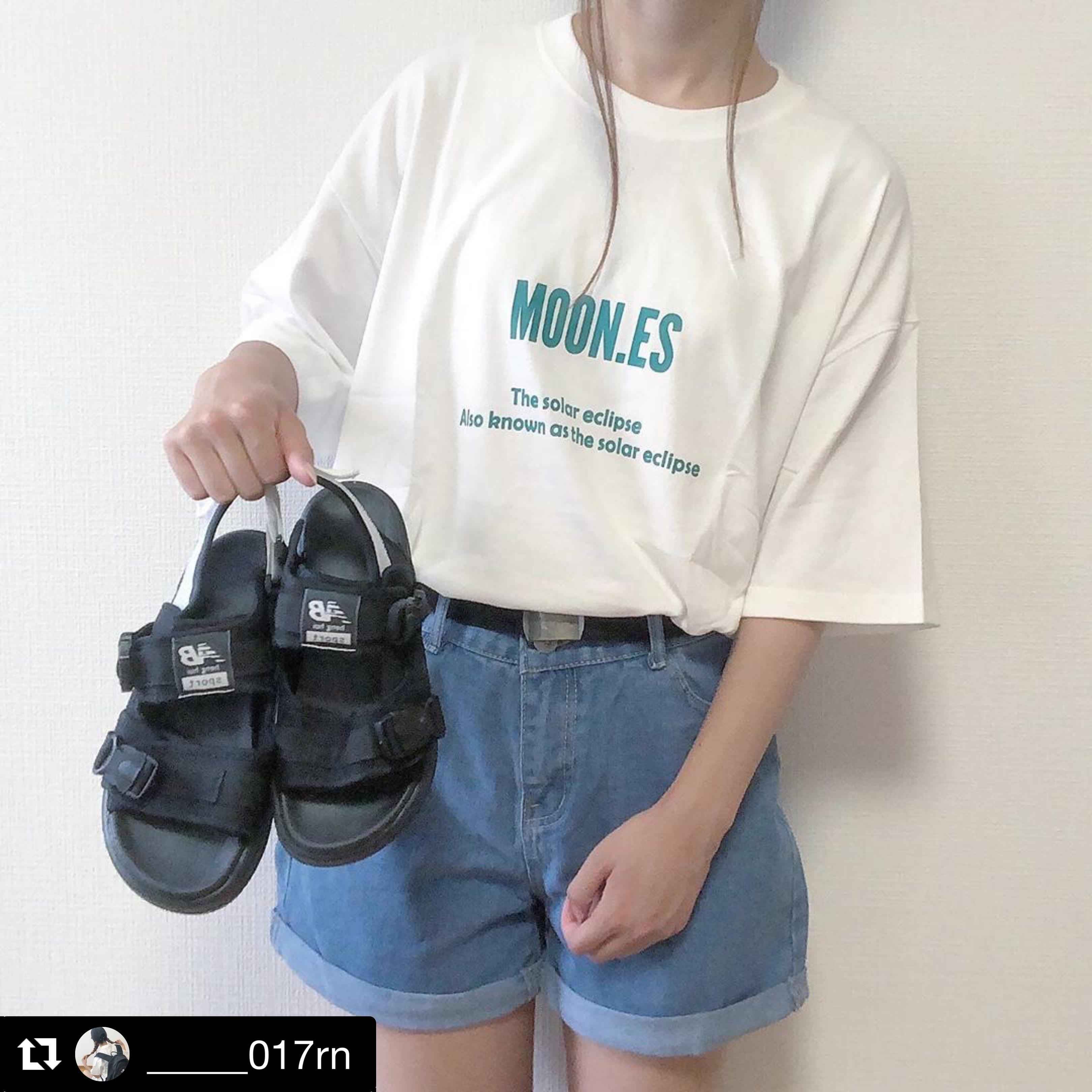 【送料無料】 おしゃれTシャツ♡ ロゴ パックプリント ビッグシャツ オーバーサイズ メンズライク
