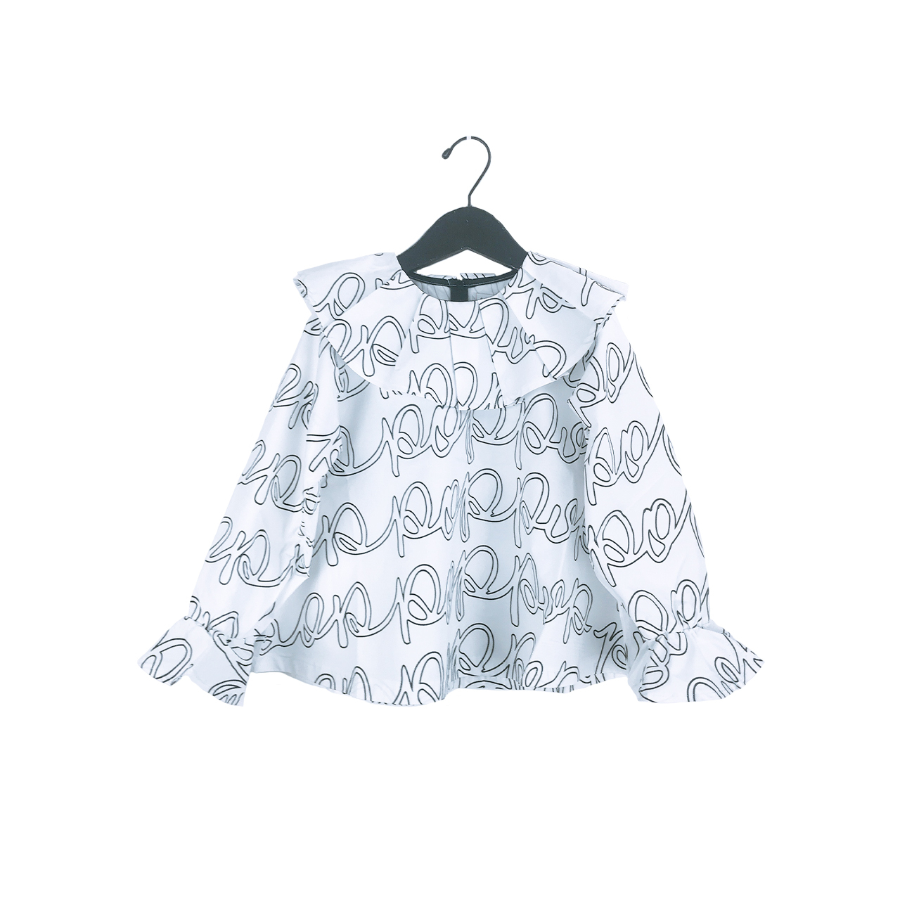 POP PLEATS COLLAR BELL SHAPED TP / LL