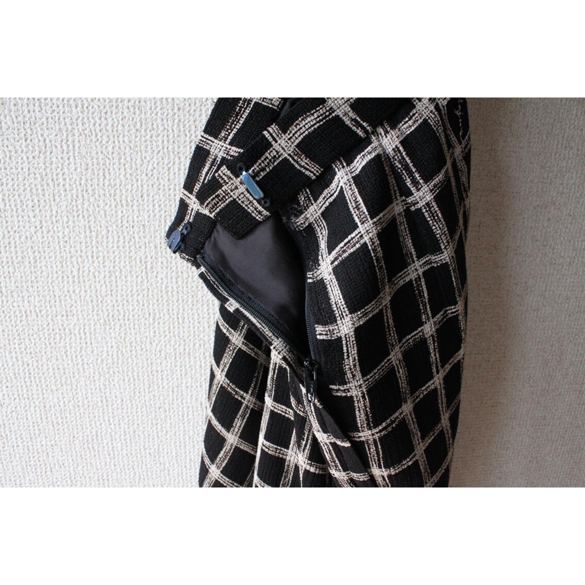 Vintage monotone check pants