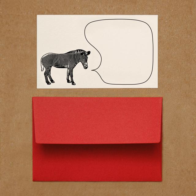 封筒つきメッセージカード(シマウマ)