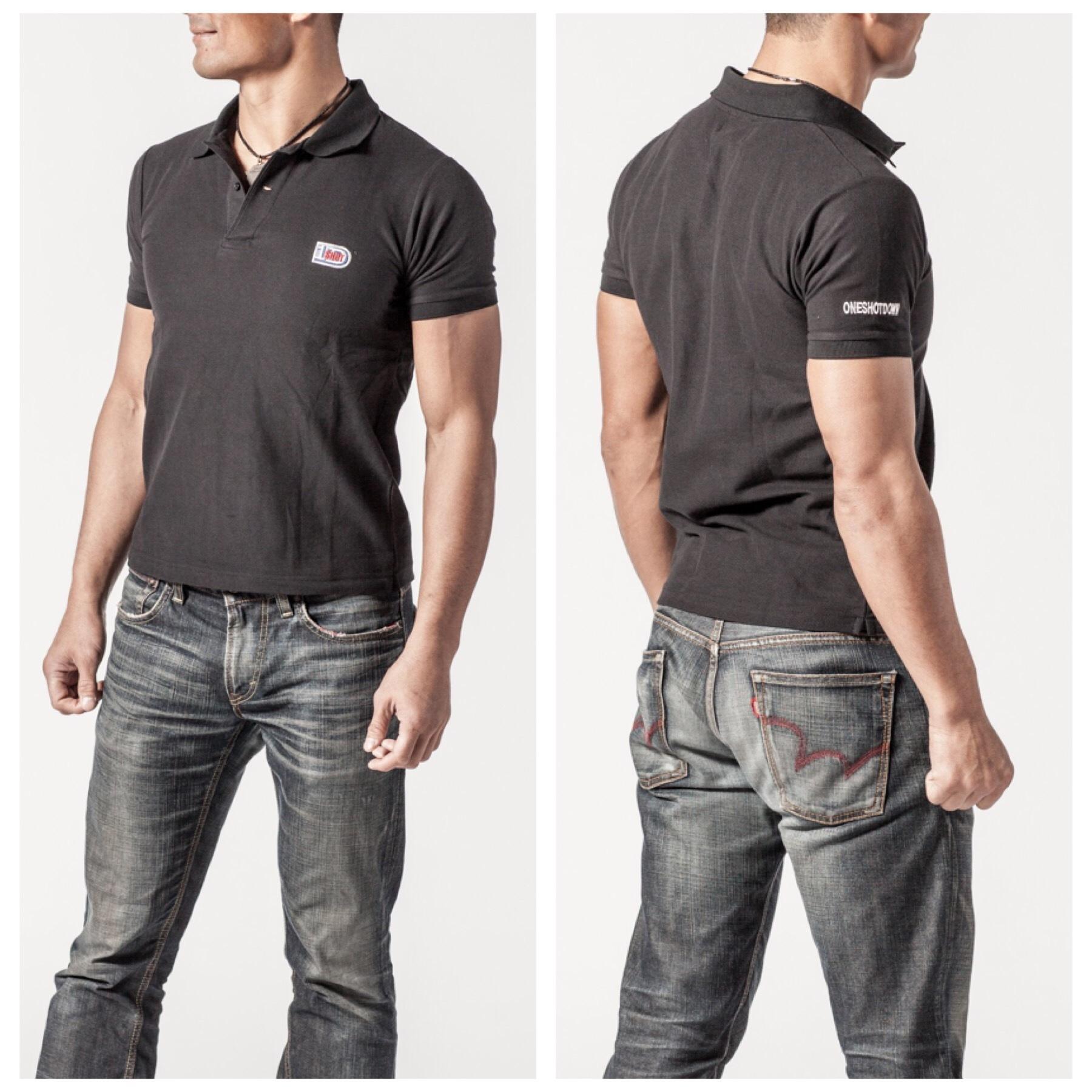 ONESHOTDOWN ワンポイントロゴ ポロシャツ - 画像3