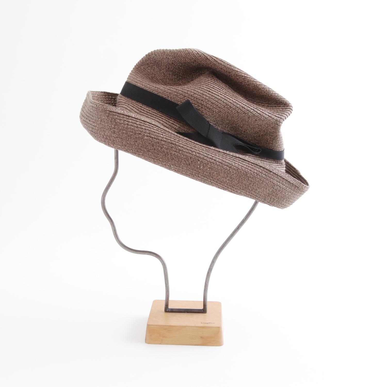 mature ha./BOXED HAT 101 darkbrown×black