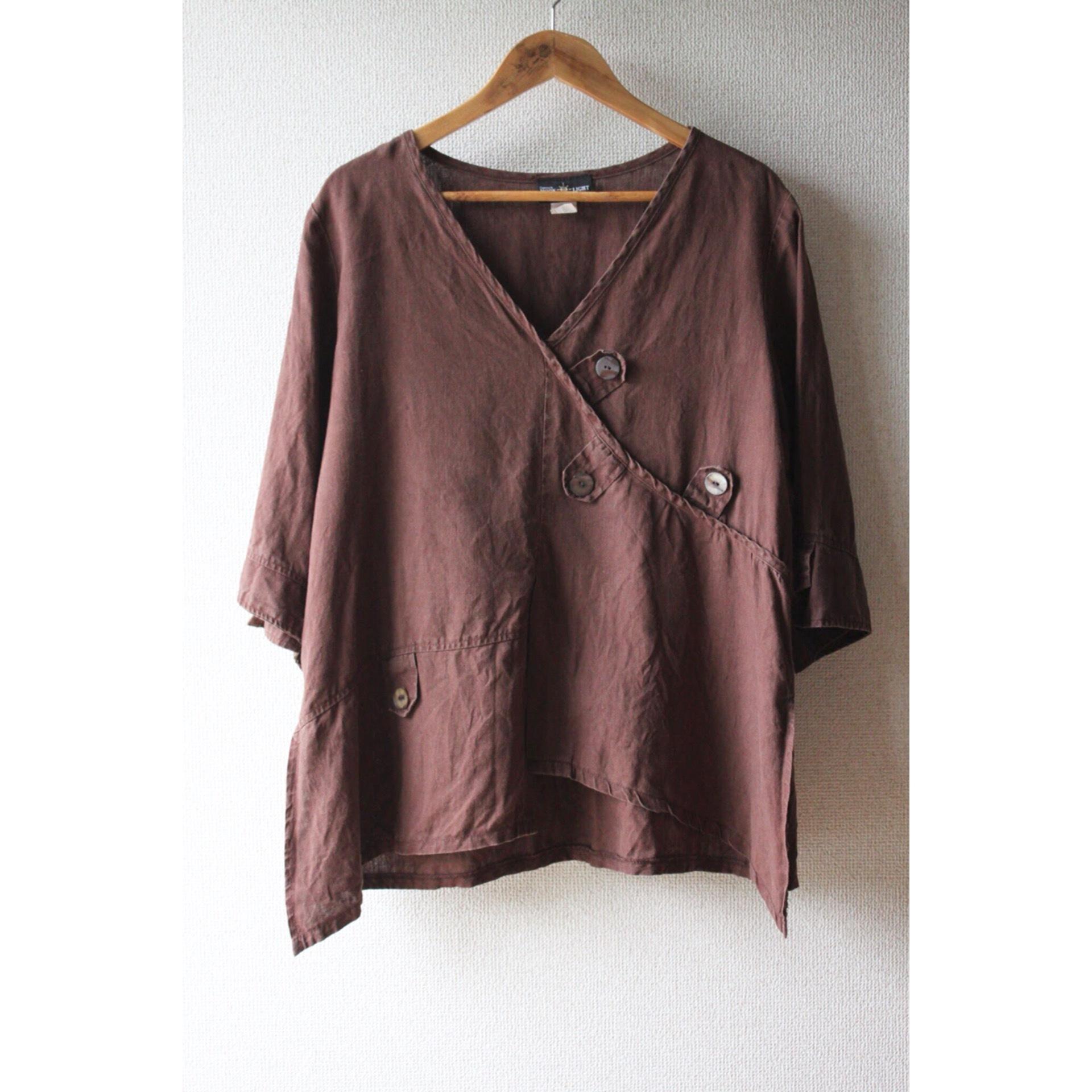 Vintage linen pullover shirt