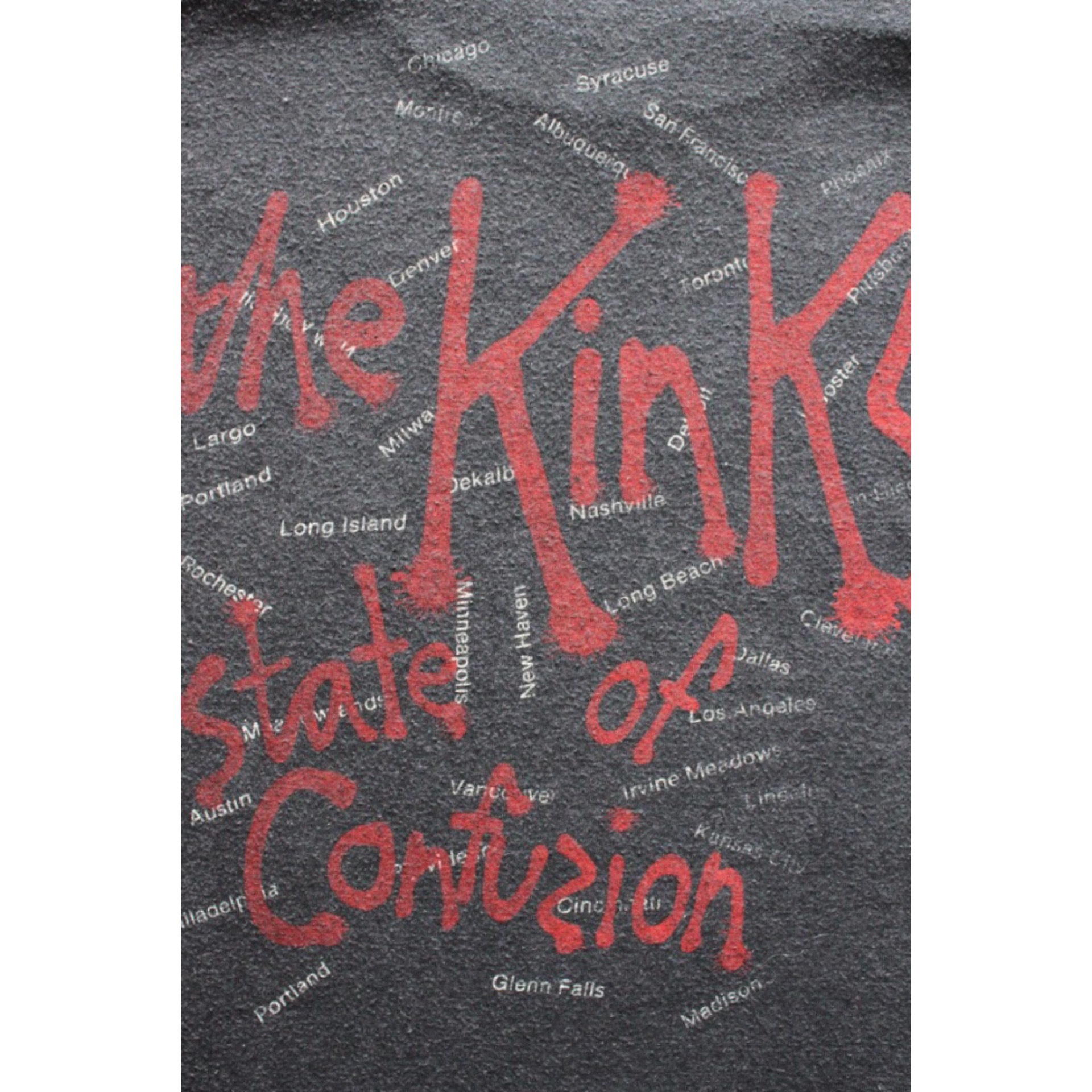 Vintage The Kinks 1983 tour t shirt