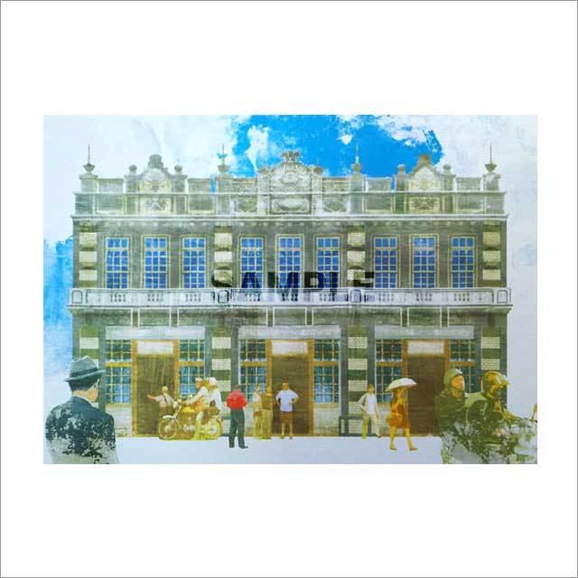 台湾ポストカード  地方小風景「宜蘭羅東 嘉普醫院 1926」