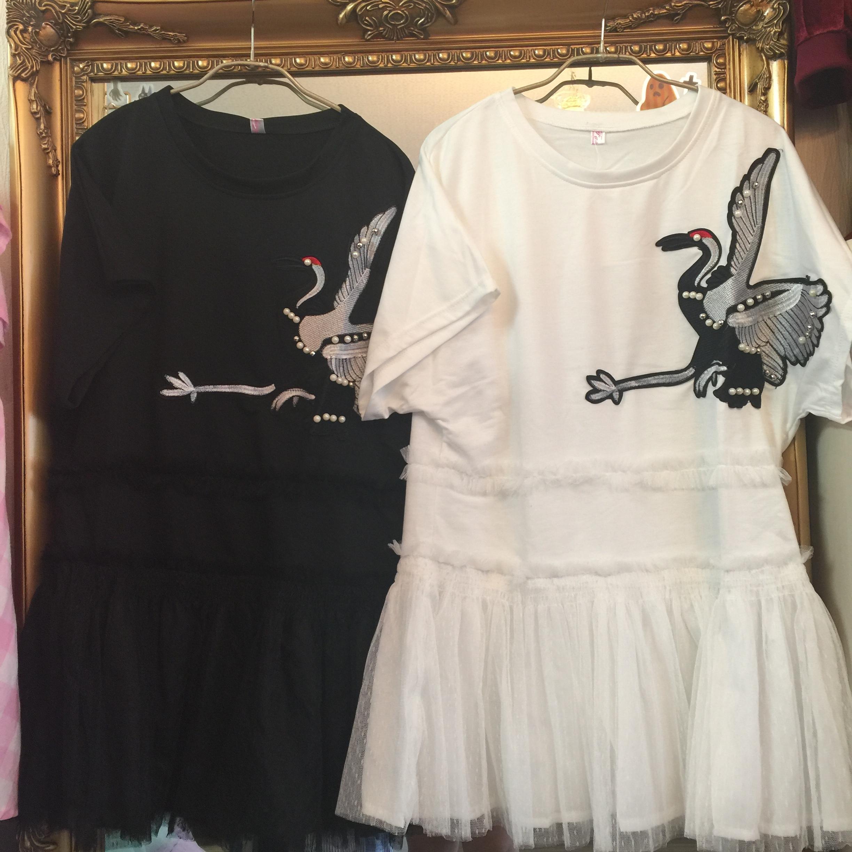 【在庫限り】刺繍シフォンワンピース