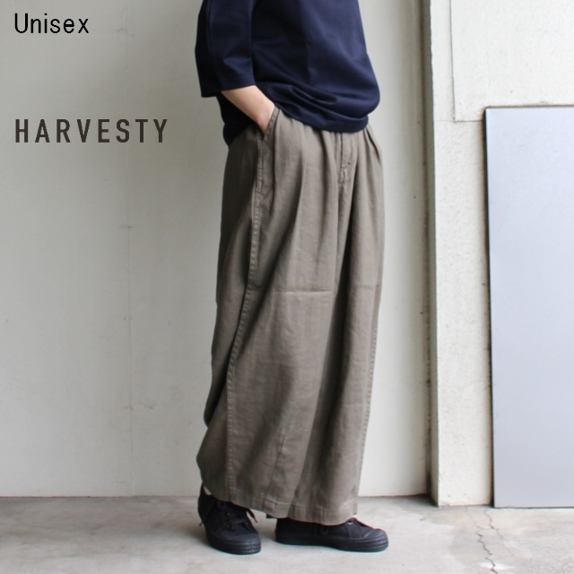 HARVESTY リネンコットンサーカスパンツ A11803 (OLIVE)