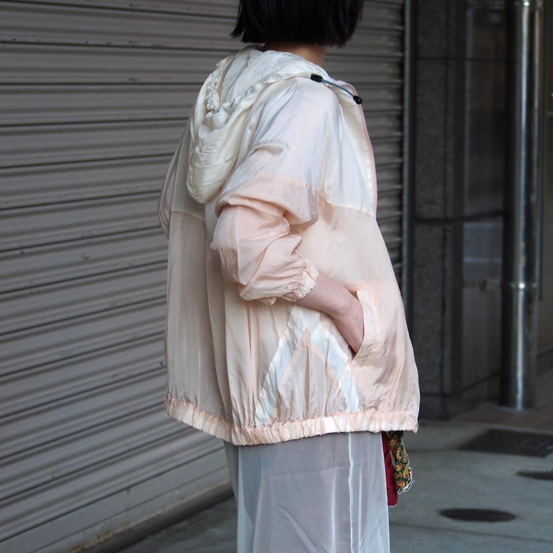 【hippiness】cupro crispy hoodie(white/beige) /【ヒッピネス】キュプラ クリスピー フーディ(ホワイトベージュ)