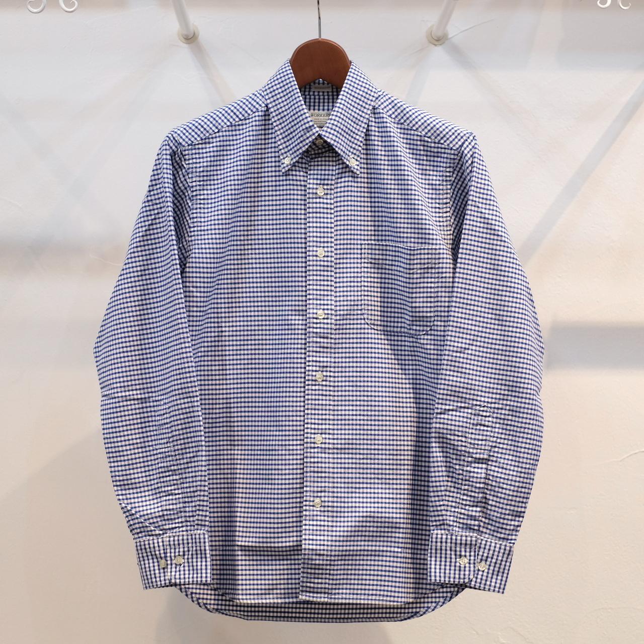 Workers(ワーカーズ) スーピマオックスボタンダウンシャツ ブルーギンガム
